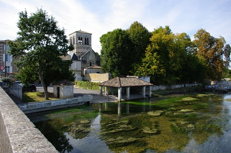 Roman church and the river The Touvre